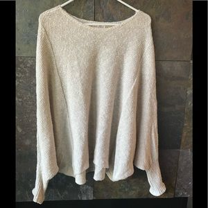 Shrinking Violet cotton batwing sweater L